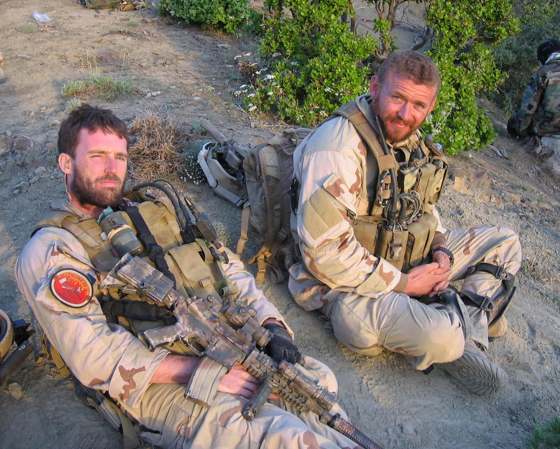 050628-N-0000X-005 Navy file photo of SEAL Lt. Michael P. Murphy, from Patchogue, N.Y., and Sonar Technician (Surface) 2nd Class Matthew G. Axelson, of Cupertino, Calif., taken in Afghanistan. Both were assigned to SEAL Delivery Vehicle Team 1, Pearl Harbor, Hawaii. Murphy and Axelson were killed by enemy forces during a reconnaissance mission, Operation Red Wing, June 28, 2005. They were part of a four-man team tasked with finding a key Taliban leader in the mountainous terrain near Asadabad, Afghanistan, when they came under fire from a much larger enemy force with superior tactical position. U.S. Navy photo (RELEASED)