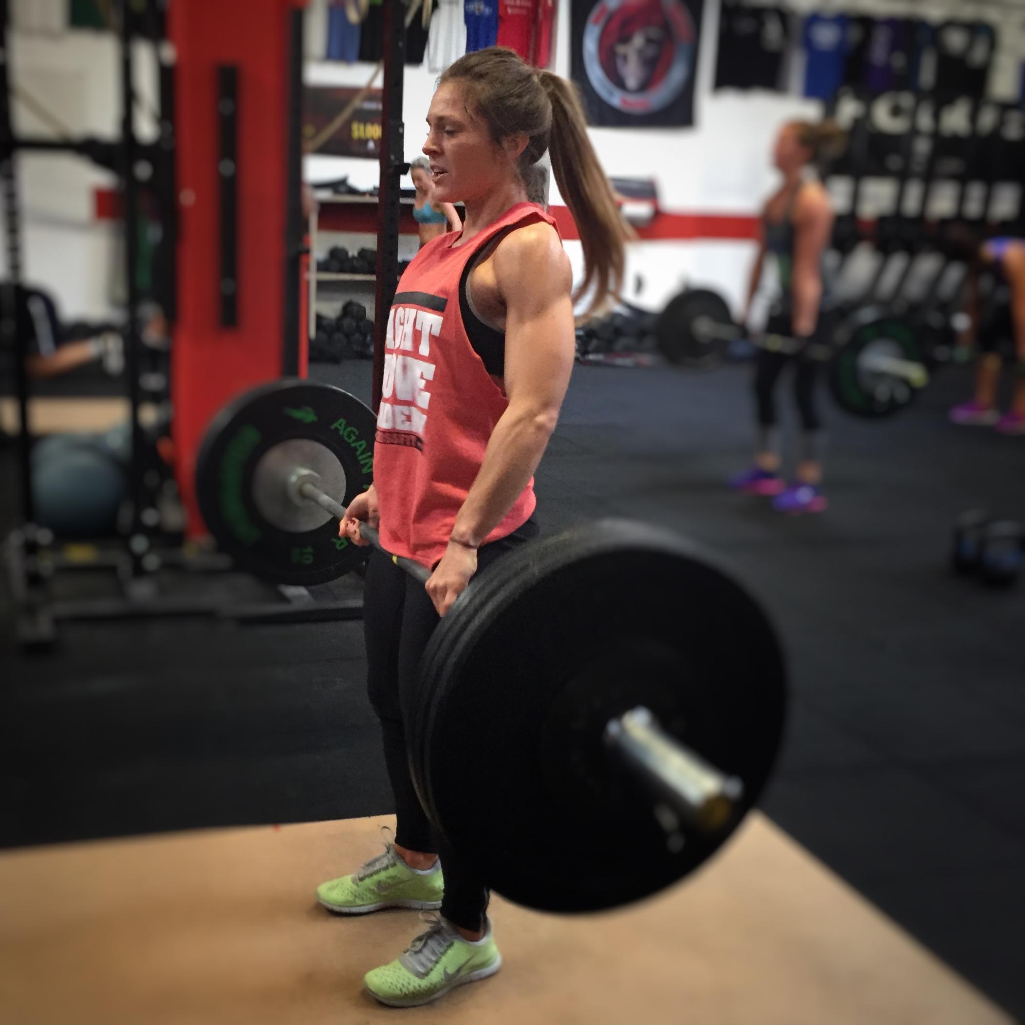 CrossFit Le Rouge Compete heavy day back squat shoulder press deadlift