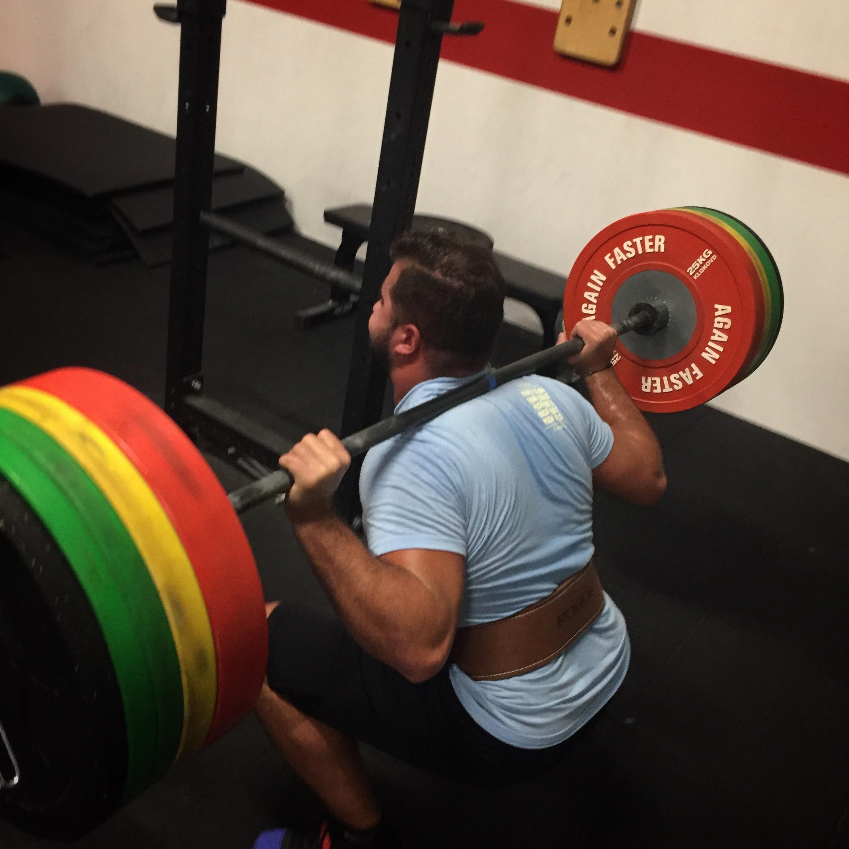 CrossFit Le Rouge Compete snatch back squat