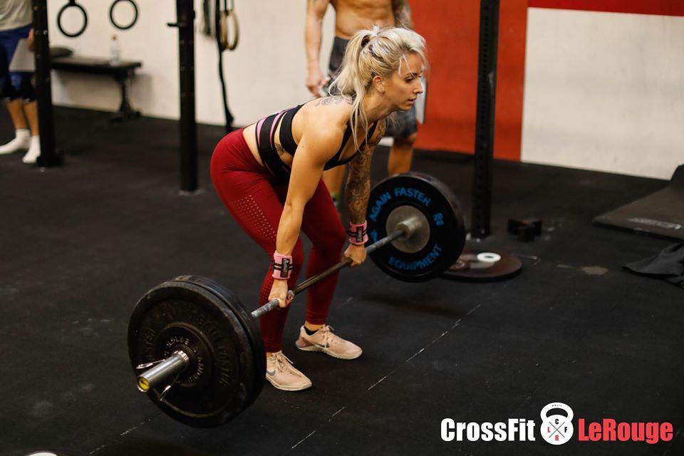 CrossFit WOD heavy-day deadlift