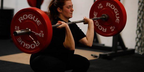CrossFit Le Rouge WOD single leg squat front squat