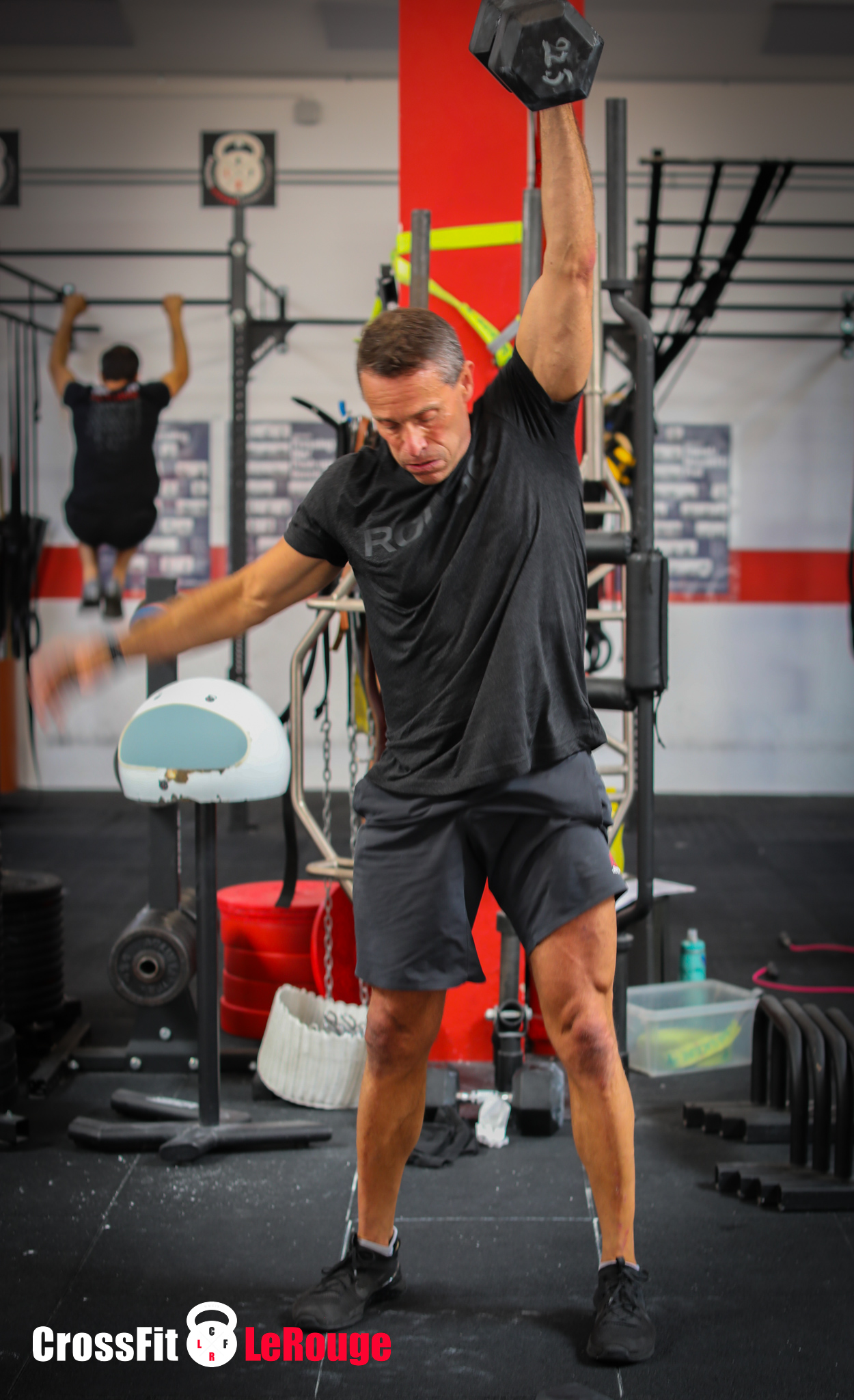 CrossFit toes-to-bar snatch