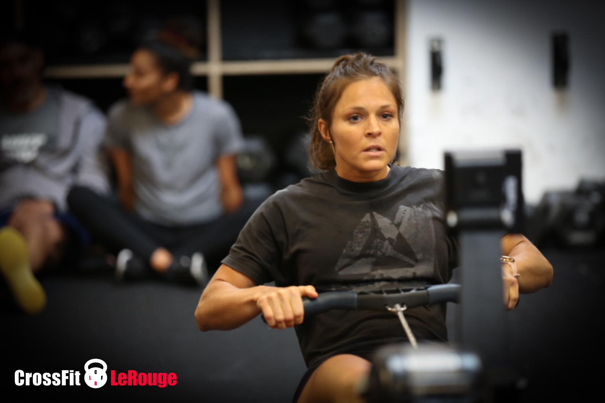 CrossFit WOD single-leg squat rowing Concept2