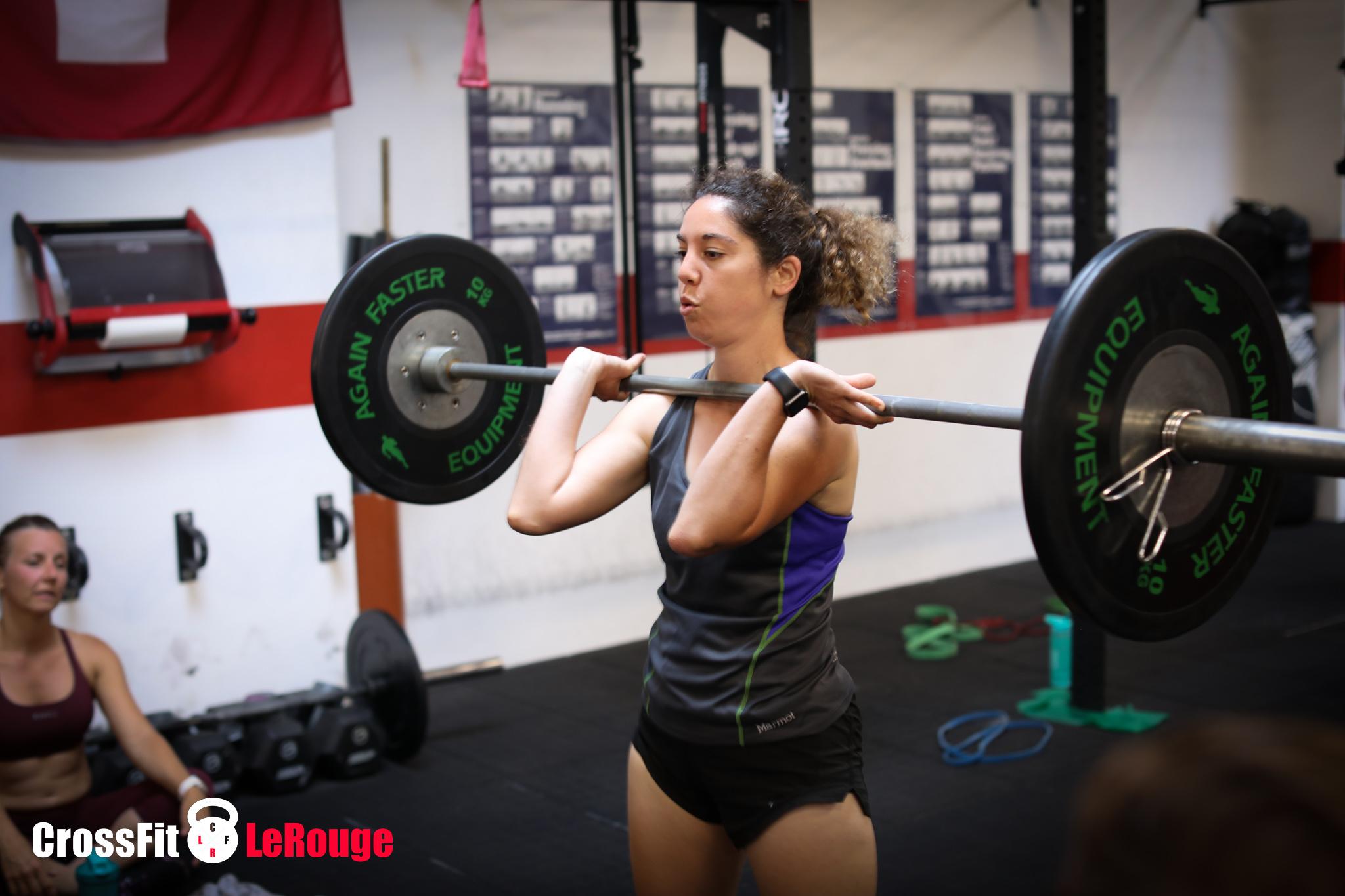 CrossFit WOD snatch clean double-under