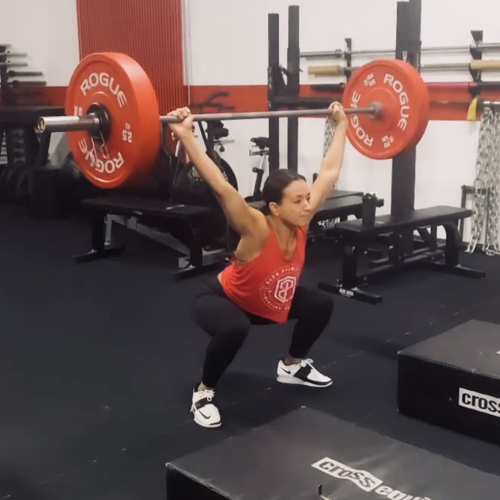 CrossFit Le Rouge WOD running power snatch overhead squat